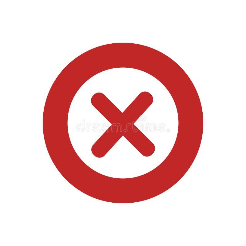 arg röd orätt ingen symbol stock illustrationer