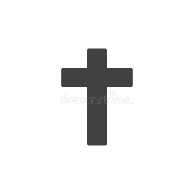 Arg symbolsvektor för kristen, fyllt plant tecken, fast pictogram som isoleras på vit vektor illustrationer