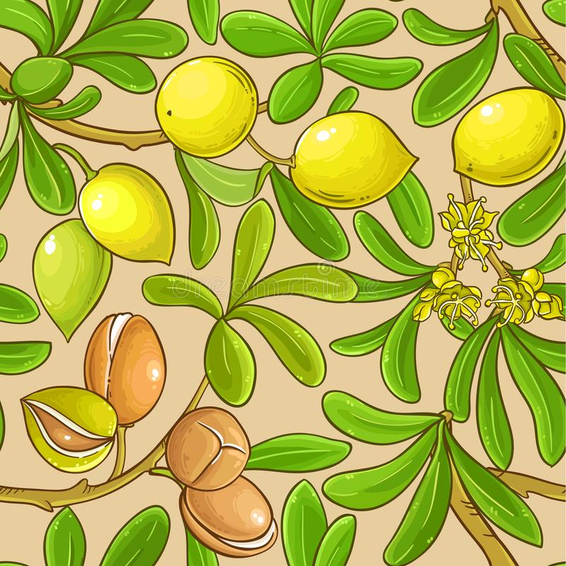 Argan vector pattern. On color background vector illustration