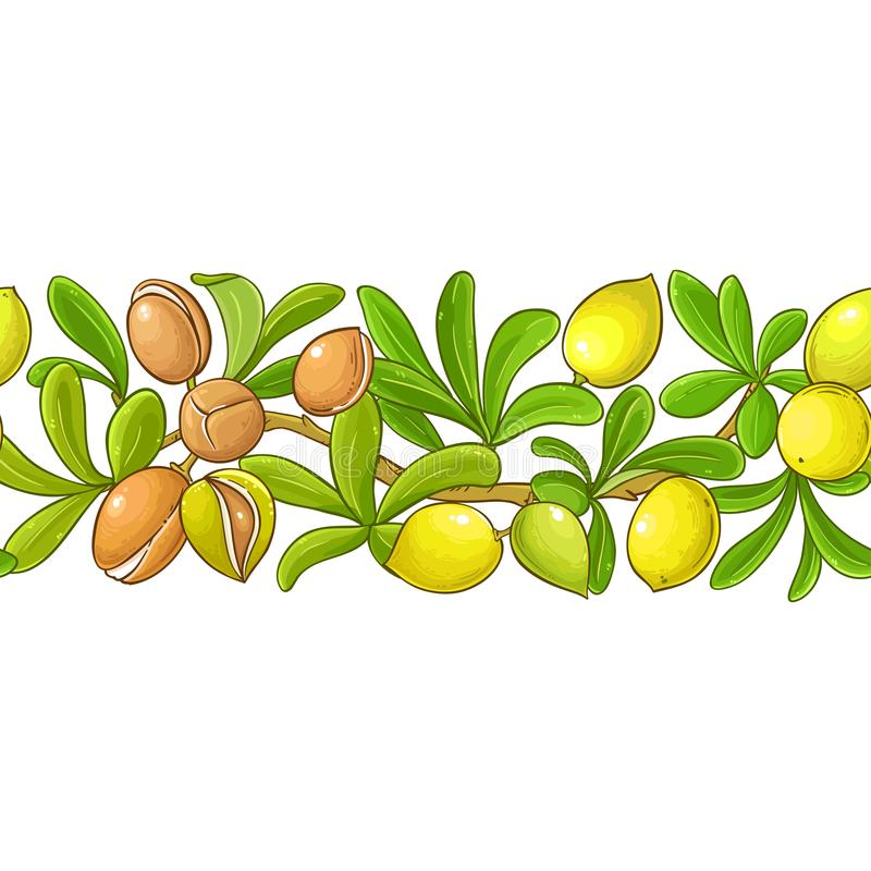 Argan vector pattern. On white background royalty free illustration