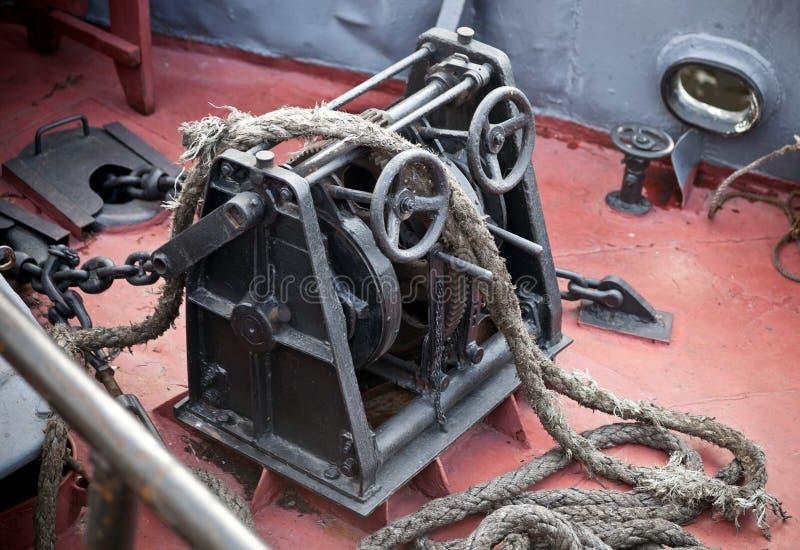 Argano dell'ancoraggio fotografia stock libera da diritti