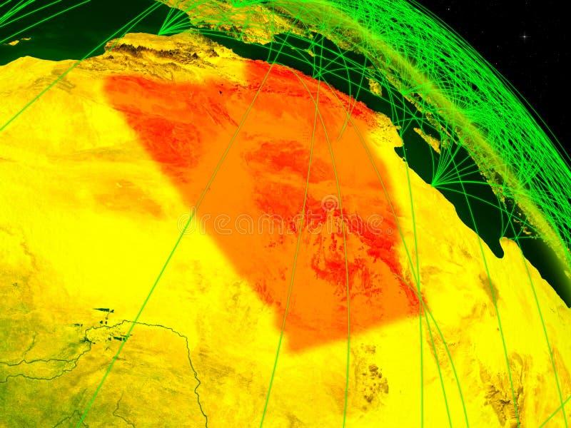 Argelia en el globo digital stock de ilustración