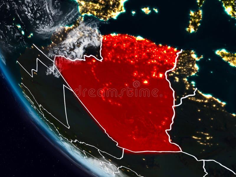 Argelia en la noche del espacio libre illustration