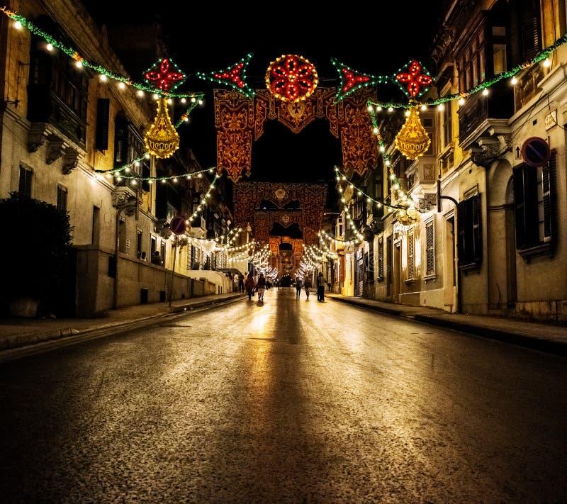 ` Argens för Rue D på natten royaltyfri fotografi