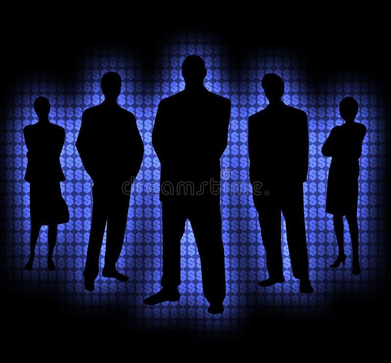 Argent 3 de gens d'ombre illustration de vecteur