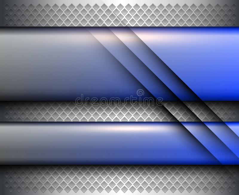 Argent abstrait de fond m?tallique illustration stock