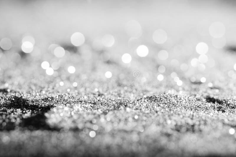 Argent abstrait de scintillement de fond ou or blanc ou platine photos stock