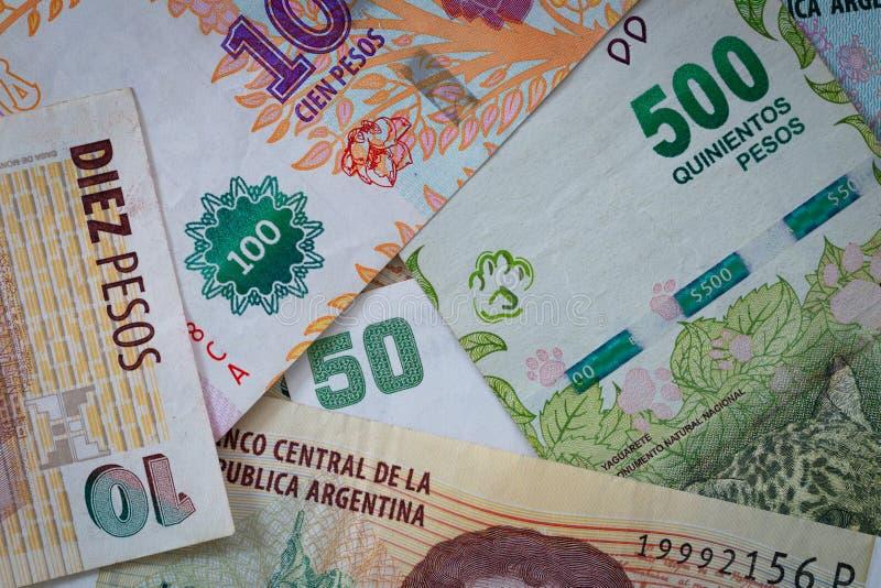 Argent argentin, pesos photos stock