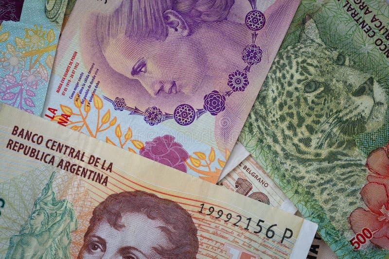 Argent argentin, pesos image stock