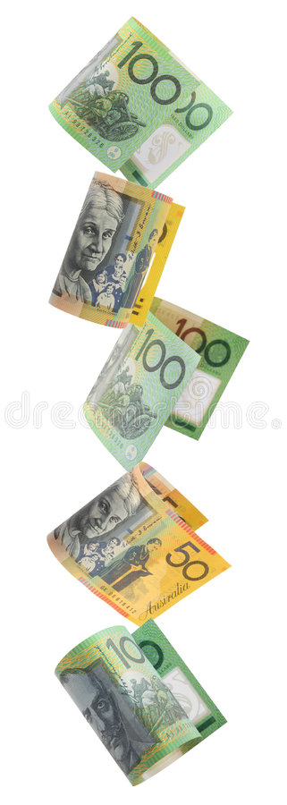 argent australien de cadre image stock