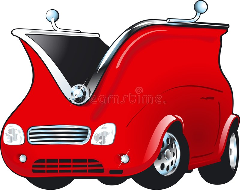 Argent - automobile illustration de vecteur