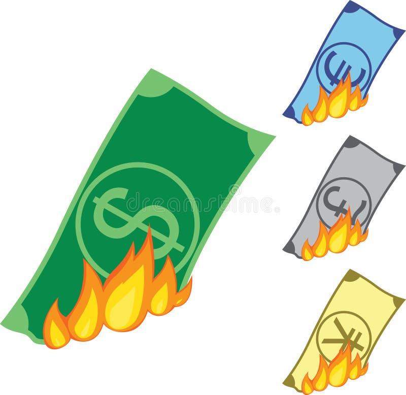 Argent brûlant illustration libre de droits