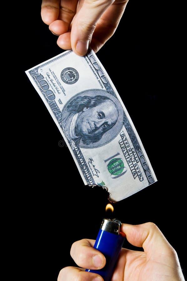 argent brûlant photo libre de droits