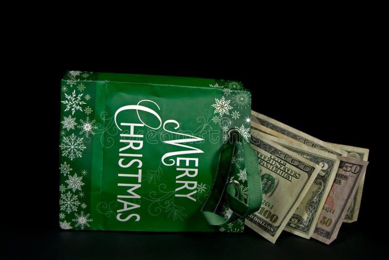 Argent comptant pour Noël images stock