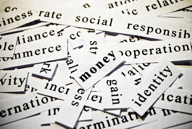 Argent. Concept des mots de coupe-circuit connexes avec des affaires. photographie stock libre de droits