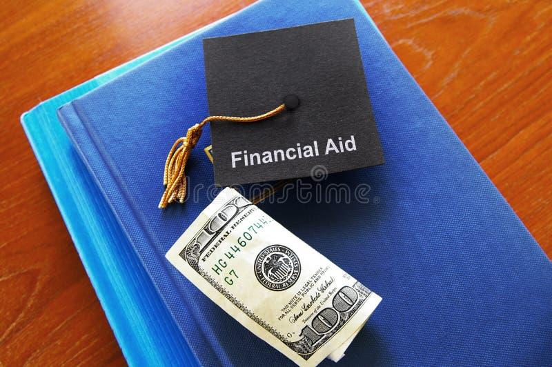 Argent d'aide financière photographie stock libre de droits