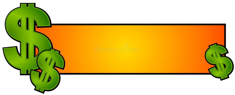 Argent d'argent comptant de logo de page Web illustration libre de droits