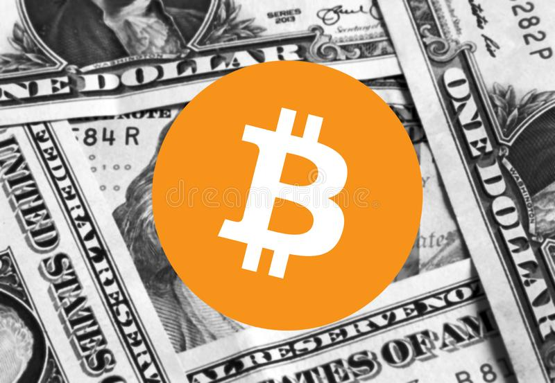 Argent d'icône de Bitcoin Cryptocurrency illustration stock