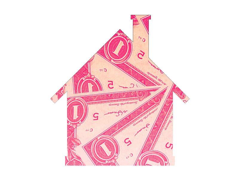 Argent d'icône d'immobiliers d'hypothèque de Chambre images stock