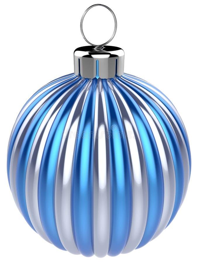 argent de bleu de décoration de babiole d'Ève de nouvelles années