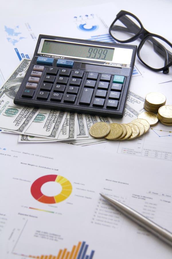Argent de concept de finances, diagramme, pièce de monnaie, photographie stock libre de droits