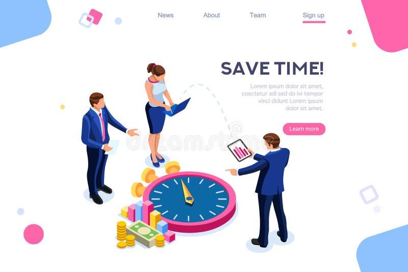 Argent de consultation de concept de temps d'économie de contrôle illustration libre de droits