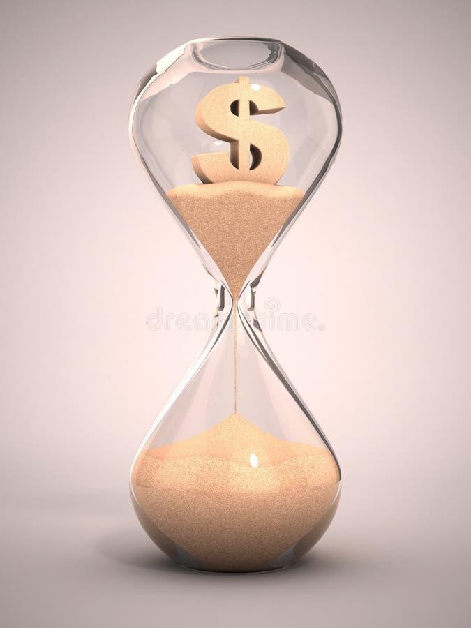 Argent de dépense ou hors de concept de l'argent 3d illustration stock