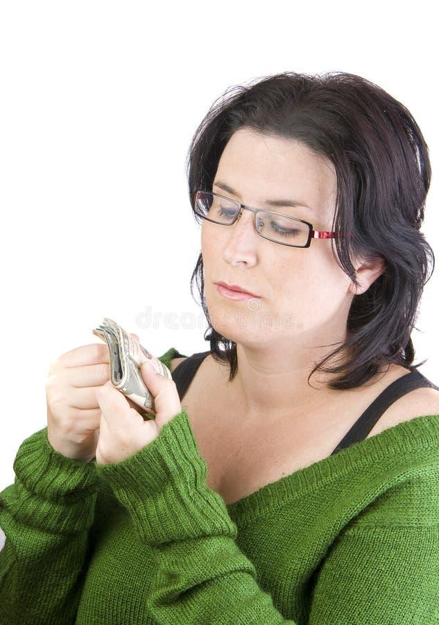 Argent de femme image stock