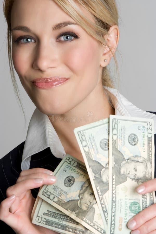 argent de femme d'affaires photo libre de droits