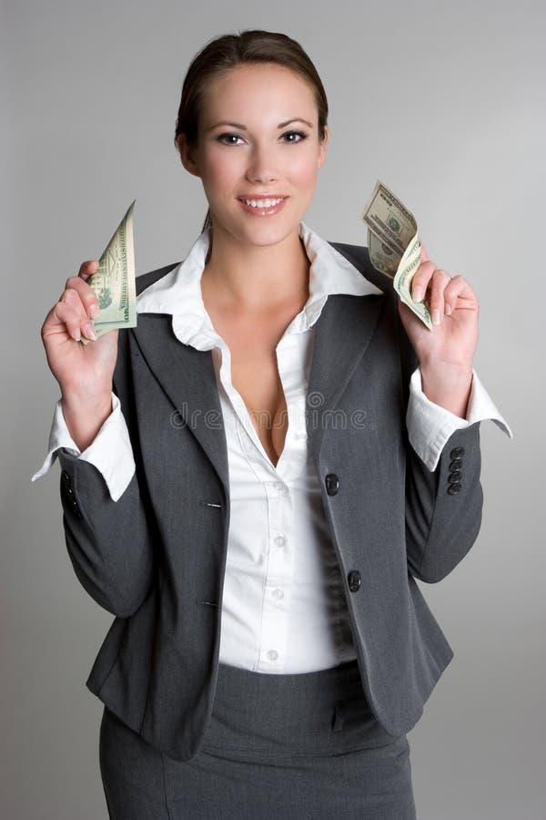 argent de femme d'affaires images libres de droits