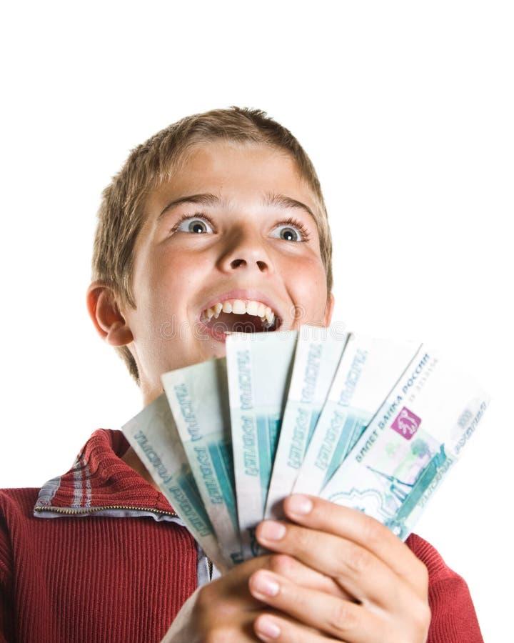 argent de garçon photo libre de droits