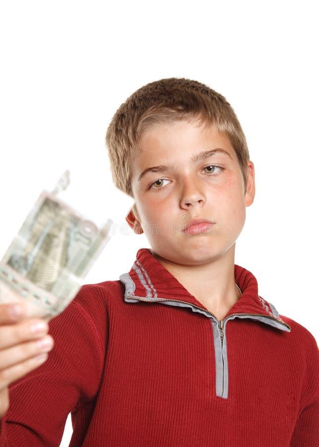 argent de garçon photographie stock libre de droits
