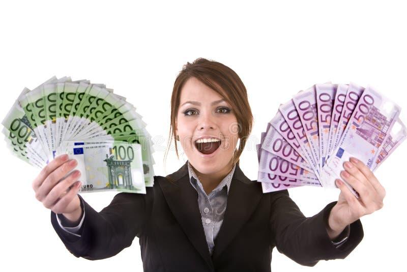 argent de groupe de femmes d'affaires photos libres de droits