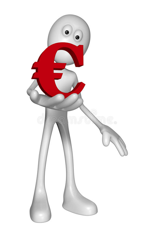 Argent de l'Europe illustration stock