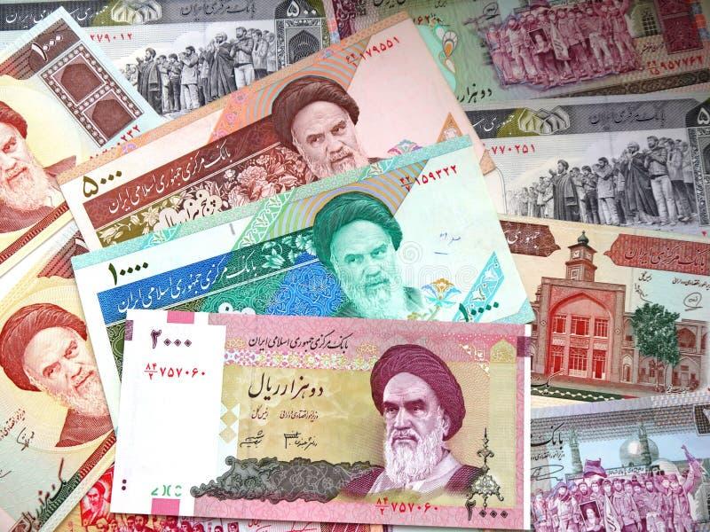 Argent de l'Iran images libres de droits