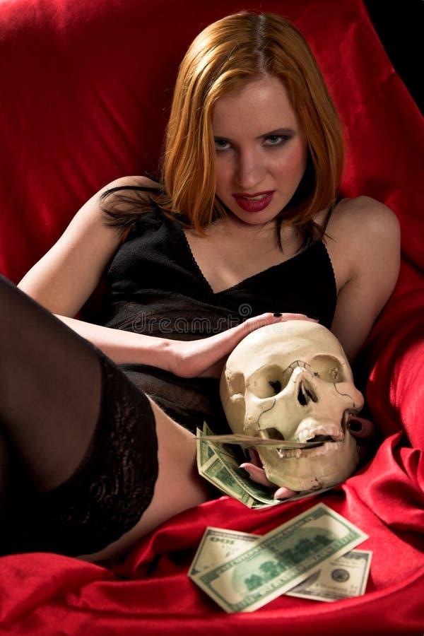 argent de la mort photographie stock