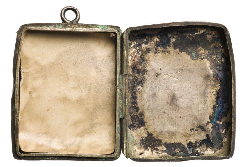 argent de locket d'isolement par antiquité photo libre de droits