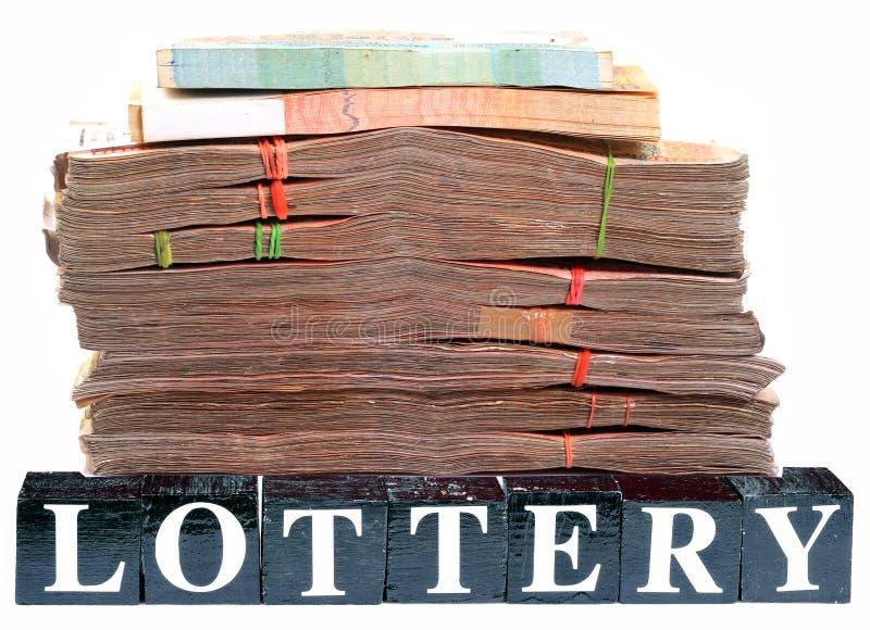 Argent de loterie photographie stock libre de droits
