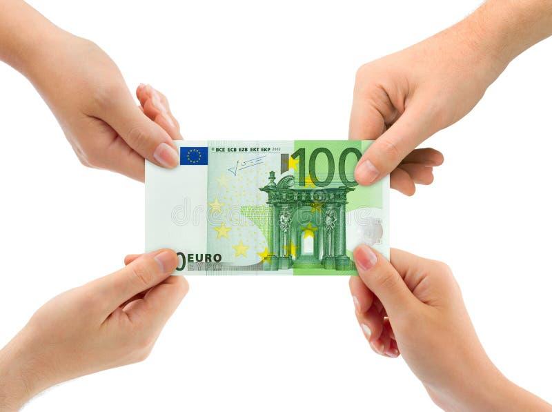 argent de mains image libre de droits