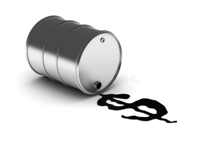 Argent de pétrole illustration de vecteur