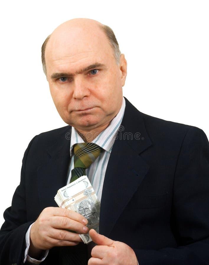 Argent de poche de main d'homme photo libre de droits