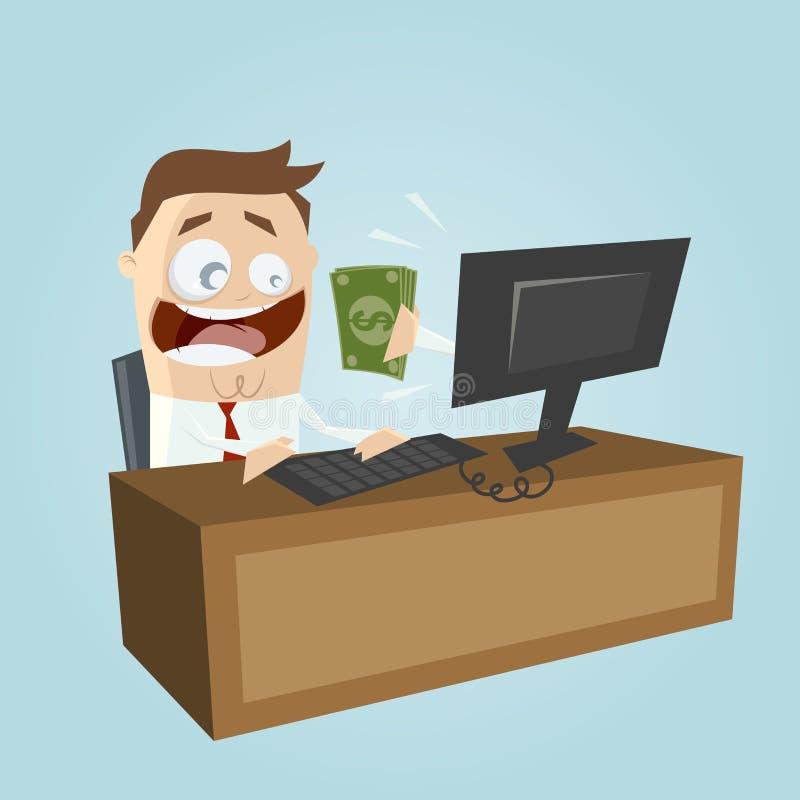 Argent de revenu sur l'ordinateur illustration de vecteur