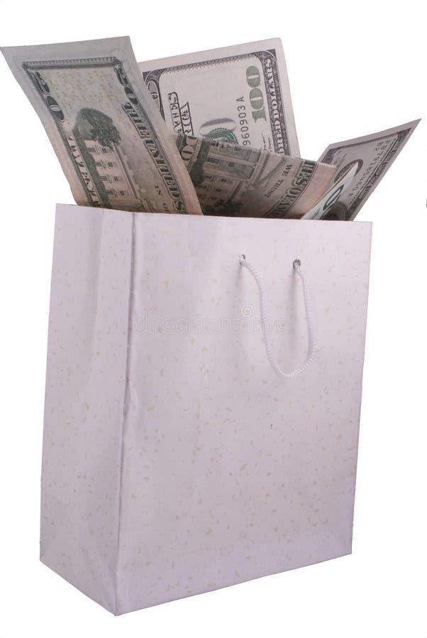 argent de sac photo stock