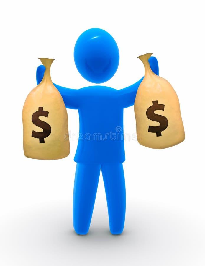 argent de sac illustration de vecteur