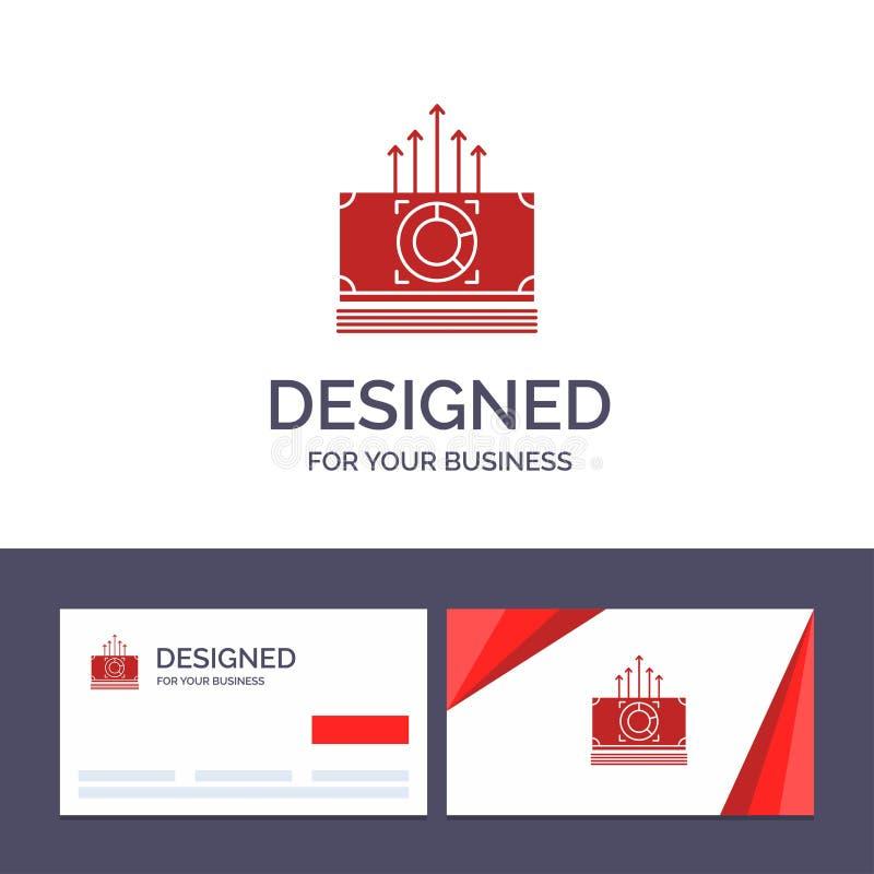 Argent de visite de calibre créatif de carte de visite professionnelle et de logo, paquet, mâles, illustration de vecteur de tran illustration de vecteur