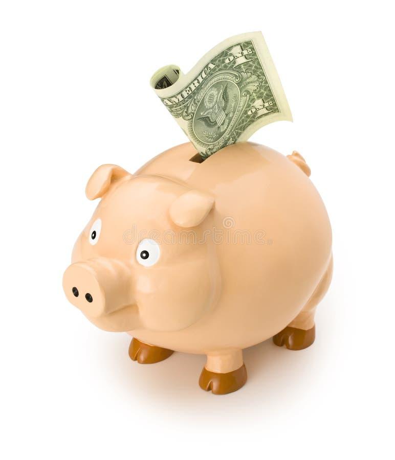 argent du dollar de côté porcin photo stock