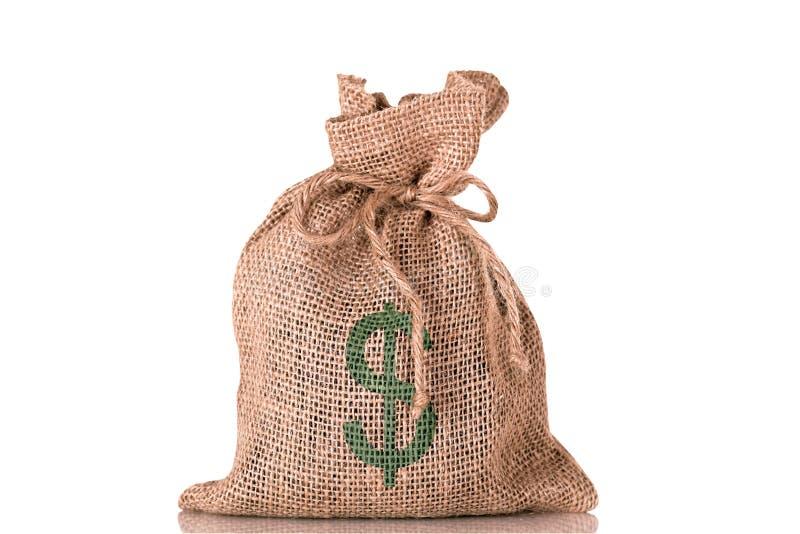 argent du dollar de sac photographie stock
