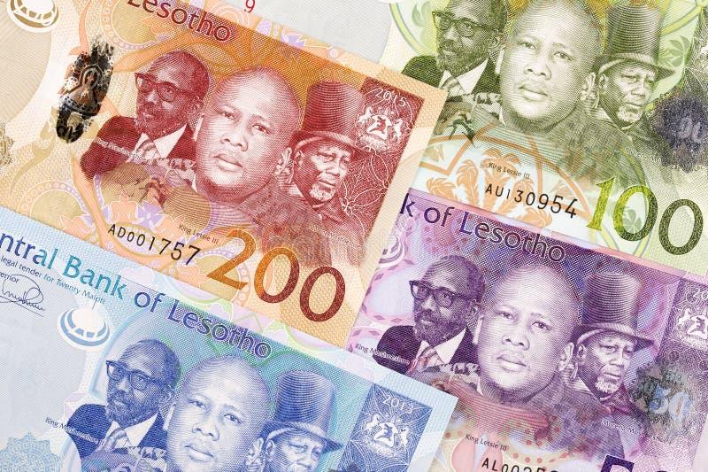 Argent du Lesotho un fond photographie stock libre de droits