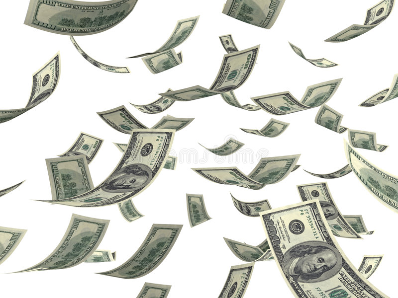 argent en baisse illustration stock