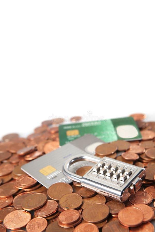 Argent et par la carte de crédit photos libres de droits